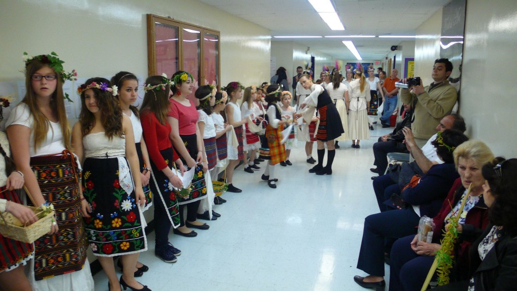 Reenaction of LAZARKI custom on St Lazarus day in collaboartion with Hristo Botev school New York
